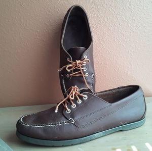 Vintage LL BEAN Men 13 Leather Moccasin deck shoes